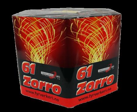 Zorro, batteri i gull fra Engelsryd Comet Fyrverkeri